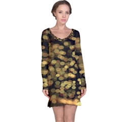 Blurry Sparks Long Sleeve Nightdress