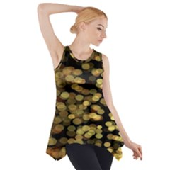 Blurry Sparks Side Drop Tank Tunic