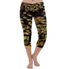 Blurry Sparks Capri Yoga Leggings