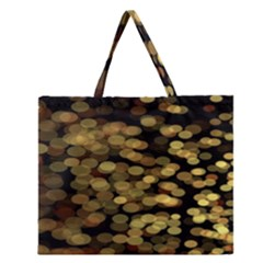 Blurry Sparks Zipper Large Tote Bag by BangZart