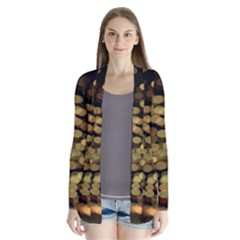 Blurry Sparks Drape Collar Cardigan