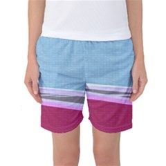 Cracked Tile Women s Basketball Shorts