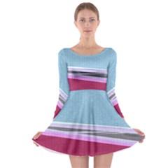 Cracked Tile Long Sleeve Skater Dress