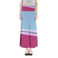 Cracked Tile Full Length Maxi Skirt