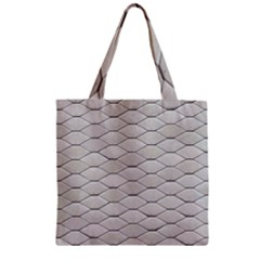 Roof Texture Zipper Grocery Tote Bag