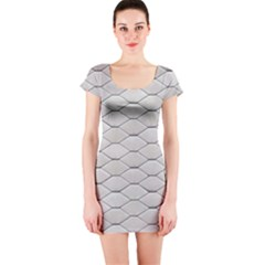 Roof Texture Short Sleeve Bodycon Dress