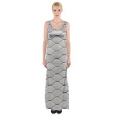 Roof Texture Maxi Thigh Split Dress