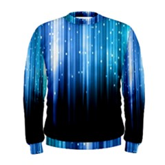 Blue Abstract Vectical Lines Men s Sweatshirt