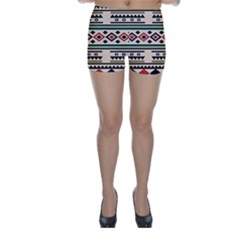 Tribal Pattern Skinny Shorts