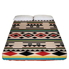Tribal Pattern Fitted Sheet (california King Size)