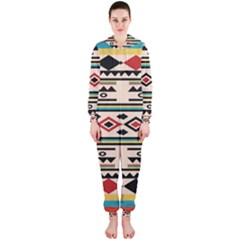 Tribal Pattern Hooded Jumpsuit (ladies)