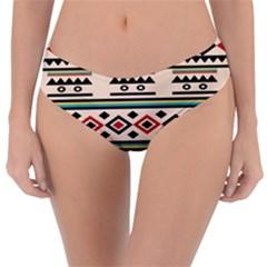 Tribal Pattern Reversible Classic Bikini Bottoms by BangZart