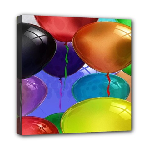 Colorful Balloons Render Mini Canvas 8  X 8  by BangZart