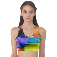 Colorful Balloons Render Sports Bra