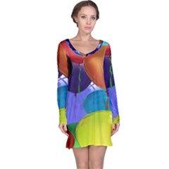 Colorful Balloons Render Long Sleeve Nightdress