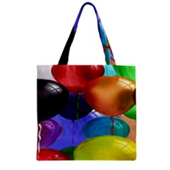 Colorful Balloons Render Zipper Grocery Tote Bag