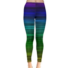Blue And Green Lines Leggings