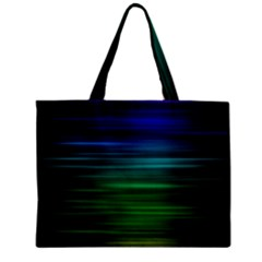 Blue And Green Lines Zipper Mini Tote Bag by BangZart