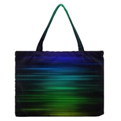 Blue And Green Lines Medium Zipper Tote Bag by BangZart