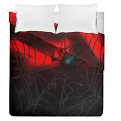 Spider Webs Duvet Cover Double Side (queen Size) by BangZart
