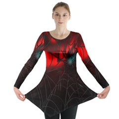 Spider Webs Long Sleeve Tunic  by BangZart