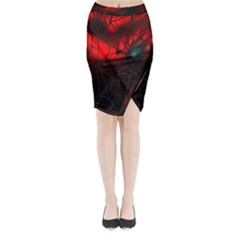 Spider Webs Midi Wrap Pencil Skirt