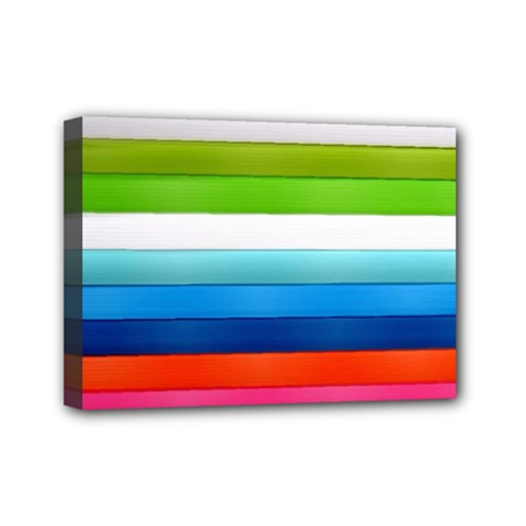 Colorful Plasticine Mini Canvas 7  X 5