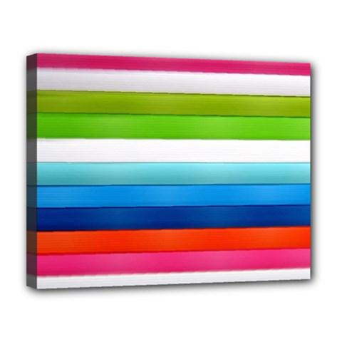 Colorful Plasticine Canvas 14  X 11  by BangZart