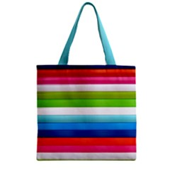 Colorful Plasticine Zipper Grocery Tote Bag by BangZart