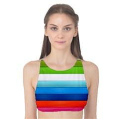 Colorful Plasticine Tank Bikini Top