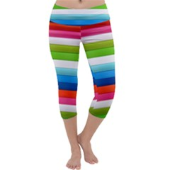 Colorful Plasticine Capri Yoga Leggings