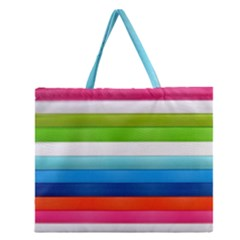 Colorful Plasticine Zipper Large Tote Bag by BangZart