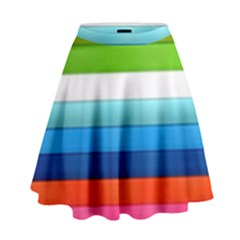 Colorful Plasticine High Waist Skirt