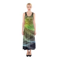 Yellow Smoke Sleeveless Maxi Dress