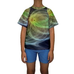 Yellow Smoke Kids  Short Sleeve Swimwear