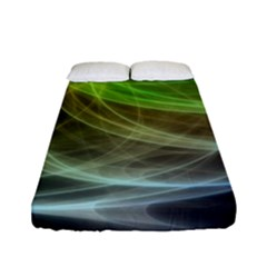 Yellow Smoke Fitted Sheet (full/ Double Size) by BangZart