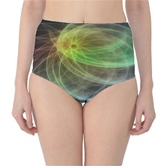 Yellow Smoke High Waist Bikini Bottoms