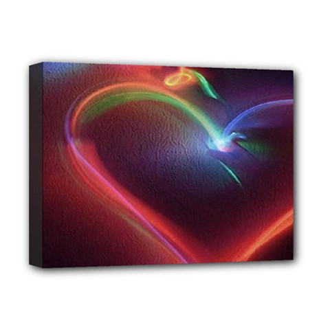 Neon Heart Deluxe Canvas 16  X 12   by BangZart