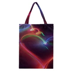 Neon Heart Classic Tote Bag by BangZart