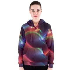Neon Heart Women s Zipper Hoodie
