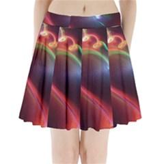 Neon Heart Pleated Mini Skirt