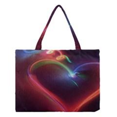 Neon Heart Medium Tote Bag by BangZart