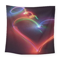 Neon Heart Square Tapestry (large)