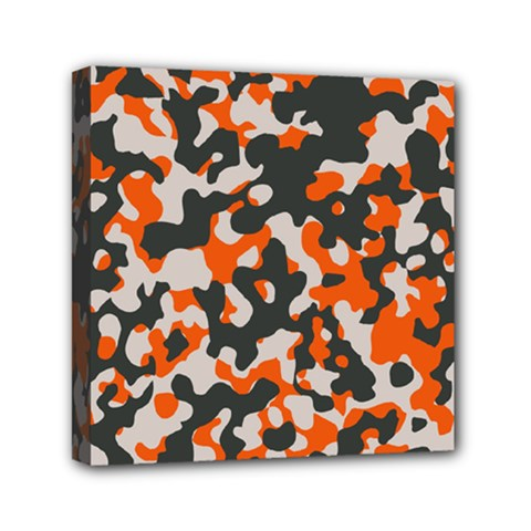 Camouflage Texture Patterns Mini Canvas 6  X 6  by BangZart