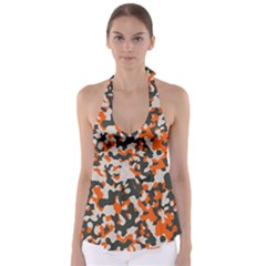 Camouflage Texture Patterns Babydoll Tankini Top