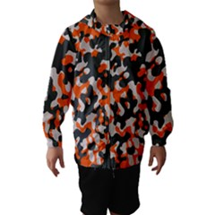 Camouflage Texture Patterns Hooded Wind Breaker (kids)