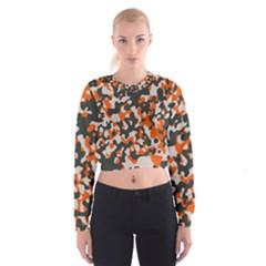 Camouflage Texture Patterns Cropped Sweatshirt