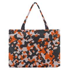 Camouflage Texture Patterns Medium Zipper Tote Bag