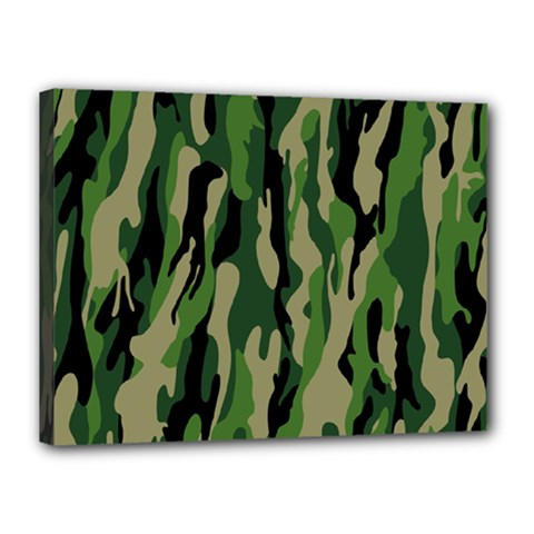 Green Military Vector Pattern Texture Canvas 16  X 12  by BangZart