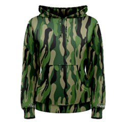 Green Military Vector Pattern Texture Women s Pullover Hoodie